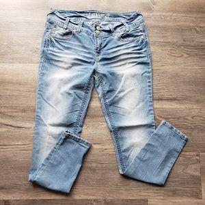 Wallflower | faded skinny jeans